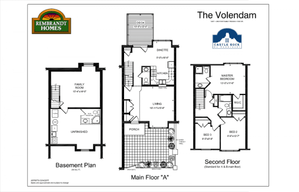 The Volendam - Main Floor - Floor Plan - Castle Rock II