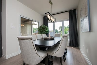 Dining area with views to the backyard - custom homes for sale - Rembrandt Estates