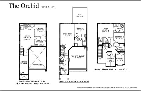 The Orchid - Floor Plan - Rembrandt Walk