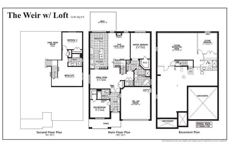 The Weir with Loft - Floor Plan - Rembrandt Walk